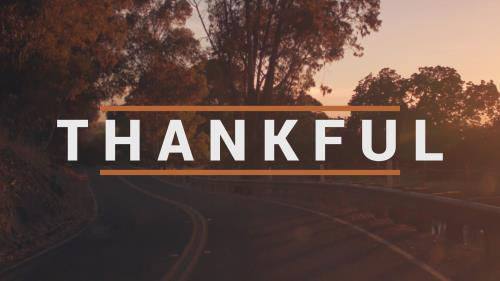 view the Video Illustration Thankful