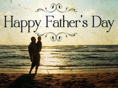 PowerPoint Template on Father's Day Beach