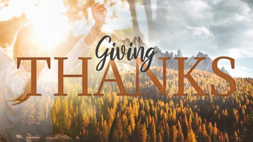 PowerPoint Template on Giving Thanks