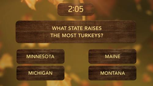 view the Countdown Video Thanksgiving Trivia Countdown