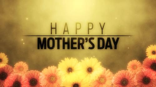 Motion Background on Floral Fusion Mothers Day Title