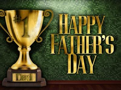 PowerPoint Template on Father's Day Trophy