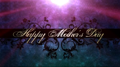 Motion Background on Happy Mother's Day