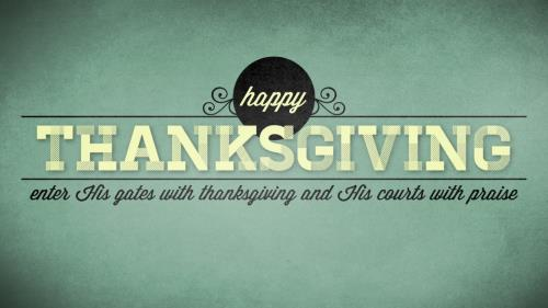 view the Motion Background Happy Thanksgiving Vintage
