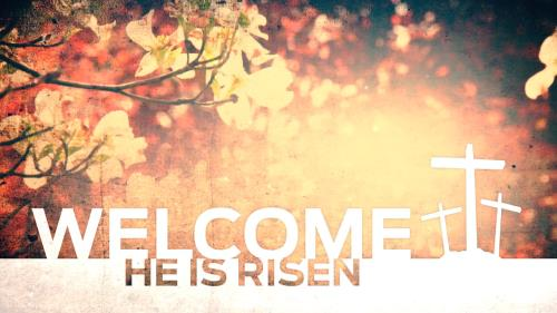 view the Motion Background He Is Risen Welcome