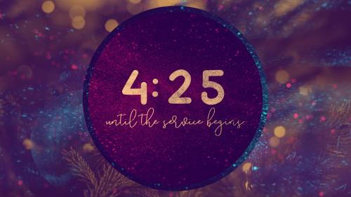view the Countdown Video Christmas Reflections