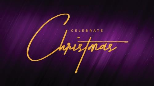 view the PowerPoint Template Christmas Purple