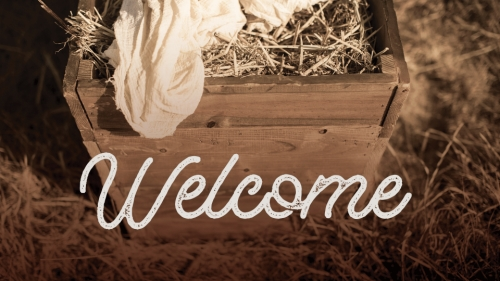 PowerPoint Template on Christmas Manger