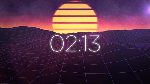 view the Countdown Video Synth Wave Countdown
