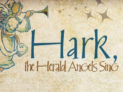 view the PowerPoint Template Hark The Herald Angels Sing With Lyrics