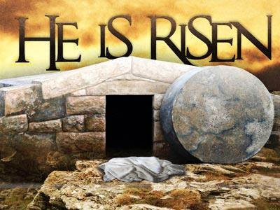 view the PowerPoint Template He  Is  Risen Tomb