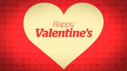 Motion Background on Lovely Happy Valentine's Day