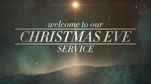 view the Motion Background Peaceful Christmas Eve Service Welcome