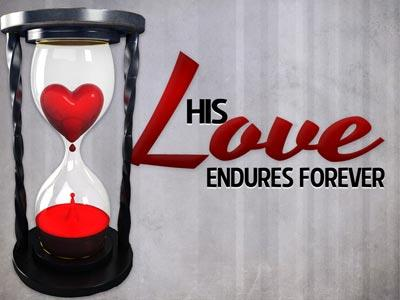 view the PowerPoint Template His  Love  Endures  Forever