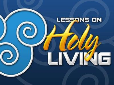 Holy  Living PowerPoint Template