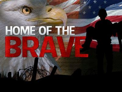 PowerPoint Template on Home Of The  Brave