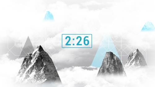 Countdown Video on Mountains And Clouds