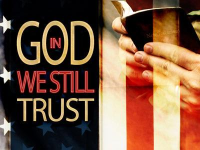 PowerPoint Template on In  God  We  Trust
