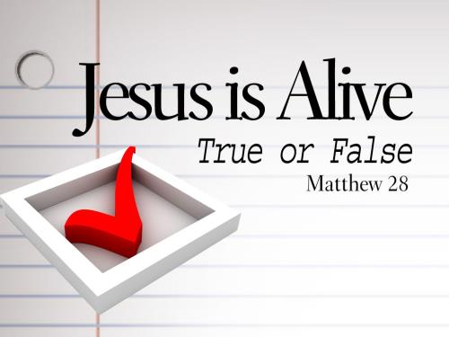 Jesus  Is  Alive PowerPoint Template 1
