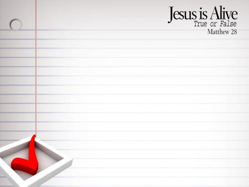 Jesus  Is  Alive PowerPoint Template 3