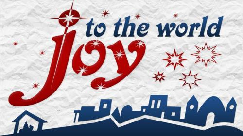 Joy to the  World with  Lyrics PowerPoint Template