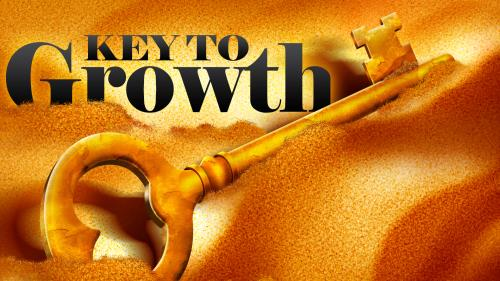 Key to  Growth PowerPoint Template