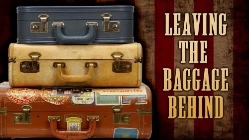Leaving the Baggage Behind PowerPoint Template 1