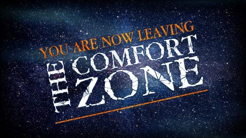 Leaving The Comfort Zone PowerPoint Template 1
