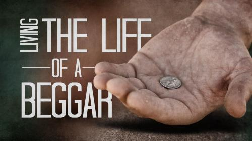 Life of a  Beggar PowerPoint Template 1