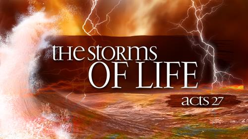 Life  Storms PowerPoint Template 1