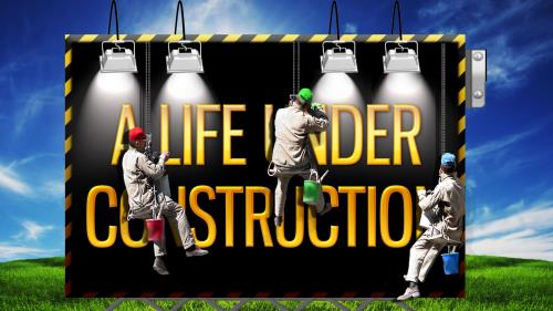 Life  Under  Construction PowerPoint Template 1