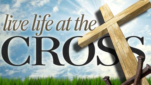Live  Life at the  Cross PowerPoint Template 1