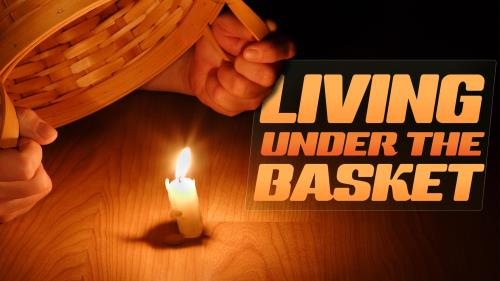 Living  Under the  Basket PowerPoint Template 1