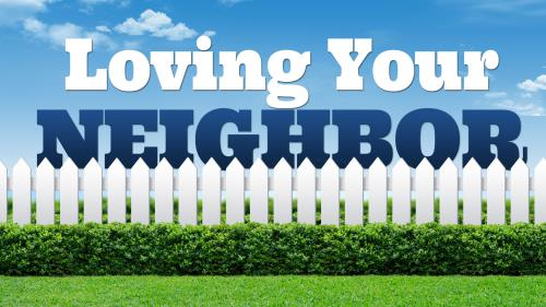 Loving Your Neighbor Fence PowerPoint Template 1