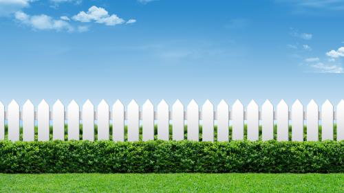 Loving Your Neighbor Fence PowerPoint Template 2