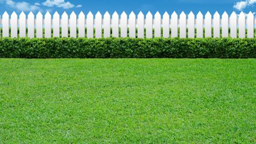 Loving Your Neighbor Fence PowerPoint Template 3