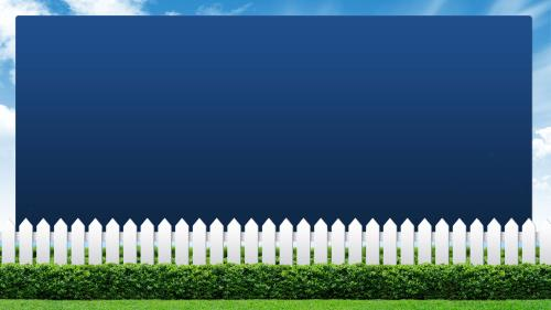 Loving Your Neighbor Fence PowerPoint Template 4