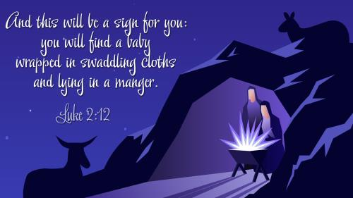 Lying in a  Manger PowerPoint Template 1