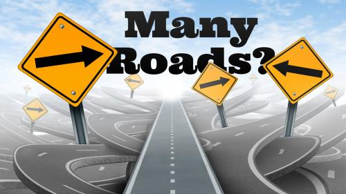 Many  Roads PowerPoint Template 1