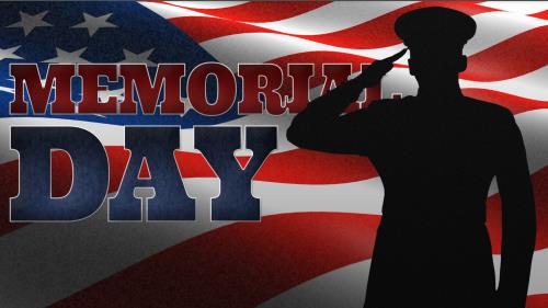 Memorial Day Salute PowerPoint Template 1