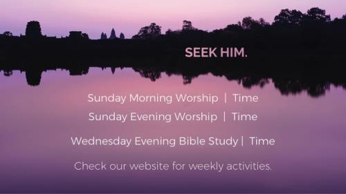 Pink Sky Seek Him PowerPoint Template