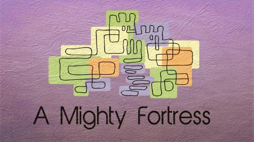 Mighty  Fortress PowerPoint Template 1