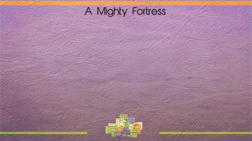 Mighty  Fortress PowerPoint Template 5