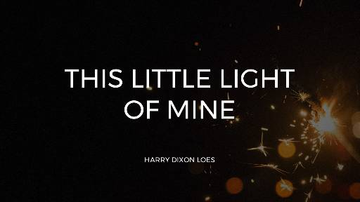 This Little Light Of Mine (Worship Lyric Slides) PowerPoint Template