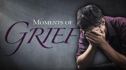 Moments of  Grief PowerPoint Template