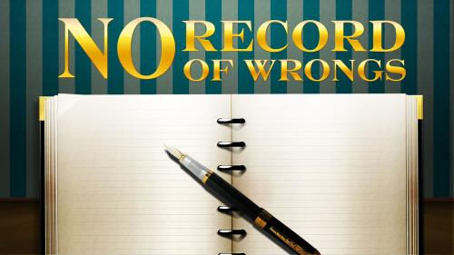 No  Record of  Wrongs PowerPoint Template
