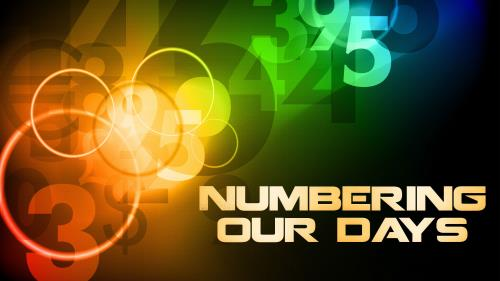 Numbering  Our  Days PowerPoint Template 1