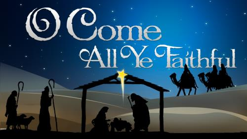 O  Come  All  Ye  Faithful PowerPoint Template 1