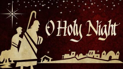 O Holy Night with Lyrics PowerPoint Template 1