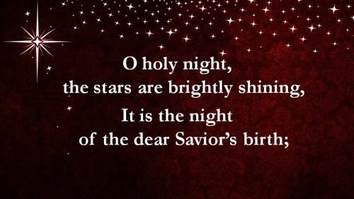 O Holy Night with Lyrics PowerPoint Template 3